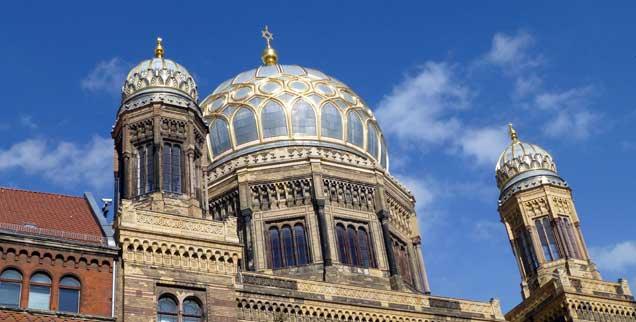 Die neue Synagoge in Berlin zeugt von der aufblühenden jüdischen Gemeinde in der Hauptstadt, sie hat mittlerweile wieder mehr als 10.000 Mitglieder (Foto: pa/Krimmer)