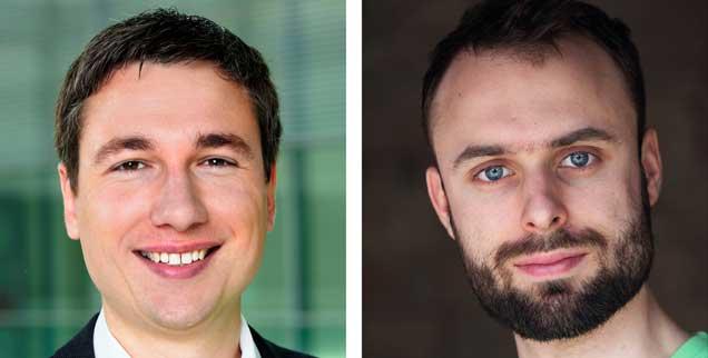 Umwelt schützen mit Elektroautos? Stephan Kühn (links) sagt: Ja! Daniel Moser (rechts) sagt: Nein! (Fotos: Kaminski; Mueller/Greenpeace)