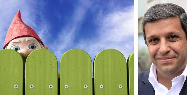 »Aus dem Vorgärtchen winkt der Gartenzwerg, und der neue Heimatminister grüßt im Trachtenjanker zurück ...« So könnte eine Karikatur der deutschen Leitkultur aussehen. Aber Raed Saleh (rechts) will die Leitkultur aus Provinzialität und rechtskonservativem Denken befreien. (Fotos:pa/westend61/Anna Huber;  pa/ Gambarini)