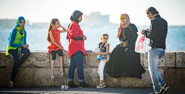 Trügerische Idylle? In Alexandria wirkt das Leben friedlich. Viele Menschen ziehen sich angesichts staatlicher Repression ins Private zurück (Foto: Großmann)