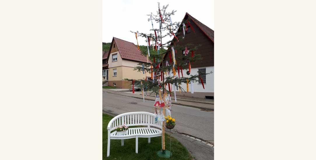 Der Corona-Maibaum (Foto: Roth)