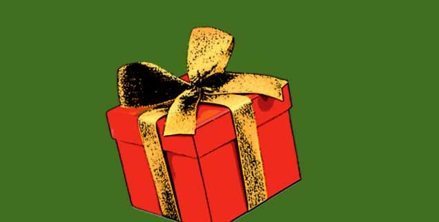 Ein Weihnachtsgeschenk! Was woll drin ist im Karton? Vielleicht was Selbstgemachtes. (Foto: Fotolia/eyetronic)