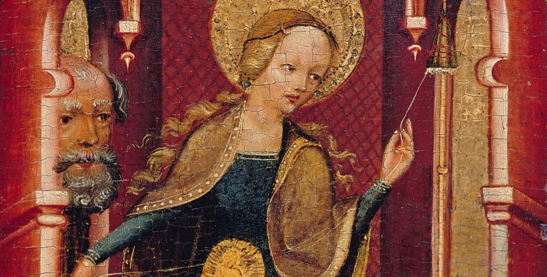 Erfurter Meister: »Maria am Spinnrocken«, o. J., Leinwand auf Nadelholz Abbildung: © Staatliche Museen zu Berlin, Gemäldegalerie / Jörg P. Anders