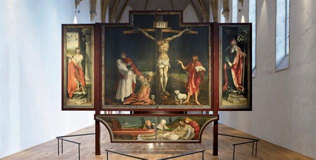 Der Isenheimer Altar, erste Schauseite, im Museum Unterlinden in Colmar (Foto: © Musée Unterlinden, Colmar / Ruedi Walti)