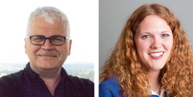 Brauchen wir Gotteslästerung? Christian Modehn (links) sagt: »Ja!« Elisa Rheinheimer-Chabbi sagt: »Nein!« (Fotos: privat)