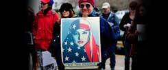 Protest in Salem, Massachusetts, gegen das von Trump erlassene Einreiseverbot für Bürger aus sieben Staaten mit mehrheitlich muslimischer Bevölkerung (Foto: pa/Alex Milan Tracy)