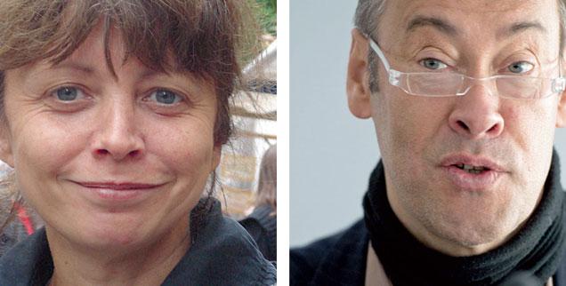 """Sonderstatus für Stasi-Akten? Brauchen wir die Stasi-Unterlagen-Behörde eigentlich immer noch? Tina Krone (links) sagt: """"Ja!"""" Thomas Krüger (rechts) sagt: """"Nein!"""" (Fotos: RHG/Uta Schützendorf; pa/dpa/Bernd von Jutrczenka)"""