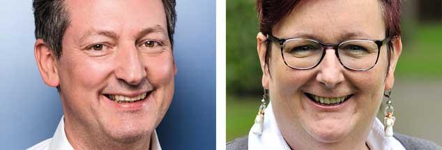 Gute Vorsätze für 2019: Nützen die was? Da sind ein Kabarettist und eine Kabarettistin uneins: Eckart von Hirschhausen (links)  denkt das Scheitern gleich mit. Ulrike Böhmer (rechts) sieht gar nicht ein, warum sie die Schwelle zum Misserfolg überhaupt ansteuern soll. (Fotos: pa/Nijhof; privat)