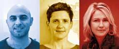 Motaz Salha (links), Felicitas Hoppe, Manuela Schwesig: Drei Menschen von vielen, die ihre Geschichte vom (Nicht-)Beten im aktuellen Publik-Forum Dossier erzählen. (Fotos: Röder; Fischer Verlag; pa/Nietfeld)