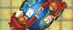 Handschlag mit Folgen: Die TISA-Verhandlungen sind neben den Verhandlungen über die Freihandelsabkommen zwischen der Europäischen Union (TTIP) und Kanada (Ceta) ein weiterer Versuch, Waren und Dienstleistungen künftig auf der ganzen Welt möglichst frei zu handeln – und die gesetzlichen Regelungsmöglichkeiten durch die Politik zu beschränken. (Foto: Corbis/Ruggieri)