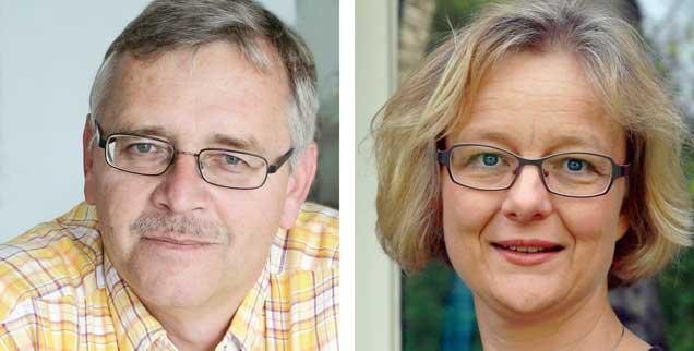 """Ist es eine gute Idee, Flüchtlinge zum Weihnachtsfest einzuladen? Thomas Seiterich (links) sagt: »Ja!« Barbara Tambour (rechts) sagt: """"Nein!"""""""