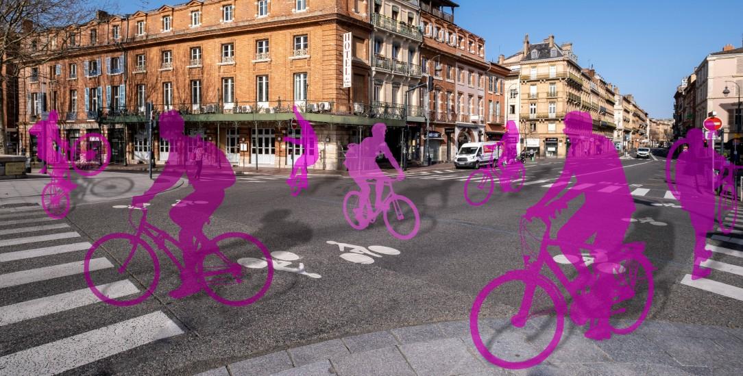 Vorgeschmack: Wie wäre es, wenn – wie hier in Toulouse – statt Autos, Radfahrer die Straßen füllen würden? (Foto: imago images/Hans Lucas)