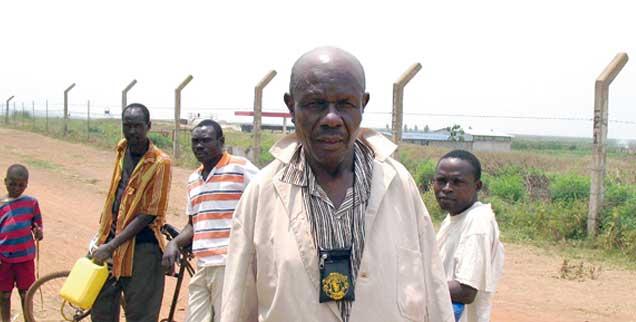 Der Kenianer Ongwek: Ein Mann ohne Land, eines von vielen Opfern des US-Unternehmers Burgess (Foto: Pearce)