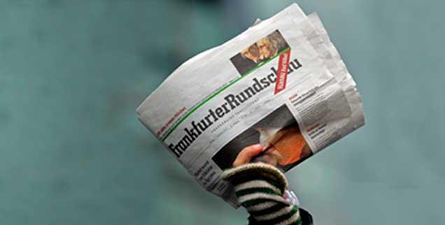 Zerknitterte Zukunft: Die Frankfurter Rundschau ist wohl nur noch bis zum 1. März 2013 sie selbst. (Foto: pa/ Becker)