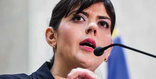 Laura Kövesi: Die Juristin hat viele Korruptionsfälle in Rumänien aufgedeckt, nun tut die rumänische Regierung alles, um ihren Wechsel zur EU zu verhindern (Foto: DANIEL MIHAILESCU/AFP/Getty Images)