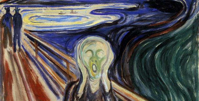Nackte Angst: Edvard Munch drückte in seinem Bild »Der Schrei« aus, was die philosophischen Existenzialisten mit Worten beschrieben (Bildquelle: pa/Ann Ronan Picture Library)
