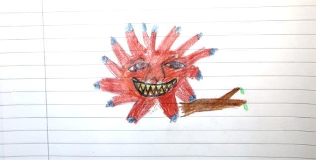 Die Zeichnung von Lilith zu ihrer Geschichte (Foto: Privat)