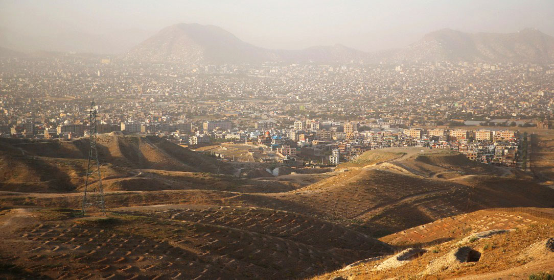 Metropole aus Lehm: Kabul aus der Luft- (Foto: pa/AP/Rahmat Gul)