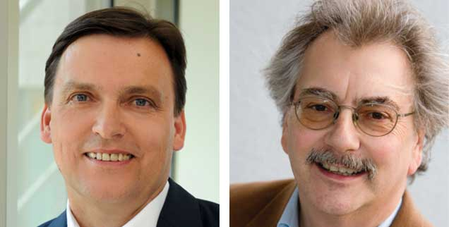 Soll die EU jetzt klare Kante gegen Italien zeigen? »Ja!«, sagt Christian Kerl (links). »Nein!«, sagt Wolfgang Kessler. (Fotos: Funke-Meiengruppe; Privat)