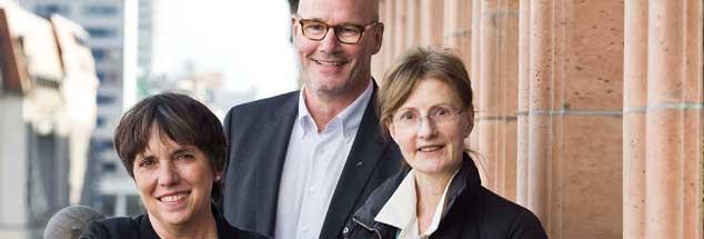 Führende Protestanten: Margot Käßmann (l.) ist weltweite Reformationsbotschafterin, Thies Gundlach ist Vizepräsident im Kirchenamt der EKD, Dorothea Wendebourg (r.) lehrt Kirchengeschichte an der Humboldt-Universität in Berlin. (Foto: Pritzkuleit)