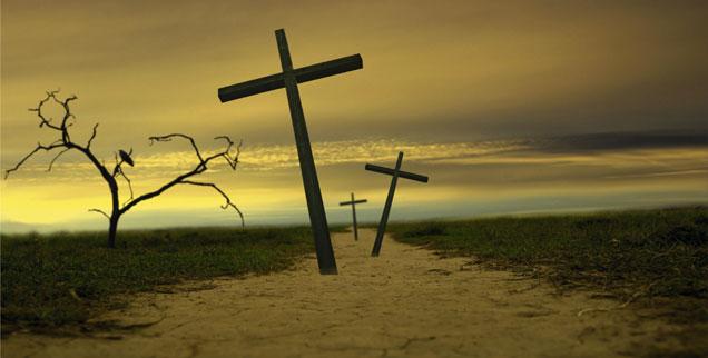 Der Weg, der nach Golgatha führt: Endet er mit Tod und Auferstehung? (Foto: Adam Korzeniewski/Alamy Stock Photo)