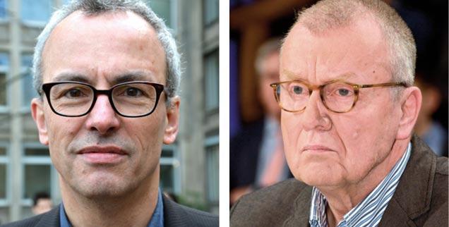 Nutzt Trump der Welt? »Ja!«, findet der Journalist Ludwig Greven (links). »Nein!«, sagt der Politiker Ruprecht Polenz. (Fotos: Wikimedia; PA/ZB/Karlheinz Schindler)
