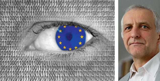 Datenschutz, der für ganz Europa gelten soll: »Da gibt es Probleme«, sagt Experte Thilo Weichert (rechts). (Fotos: imago/Ralph Peters; Markus Hansen)