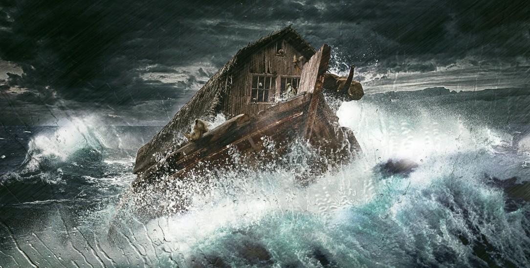 Die Fahrt der Geretteten: So stellt sich diese Fotomontage die Arche Noah vor. (Foto: istockphoto/Pink_frog)