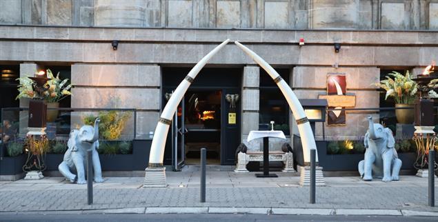 Kolonialromantik: Das indische Restaurant »Ivory Club« (Elfenbeinklub) in Frankfurt am Main (Foto: Ute Victor)
