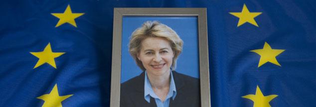 Ursula im Glück: Am Dienstagabend ist sie mit 383 von 733 Stimmen zur neuen Präsidentin der EU-Kommission gewählt worden. (Foto:pa/Ulrich Baumgarten)