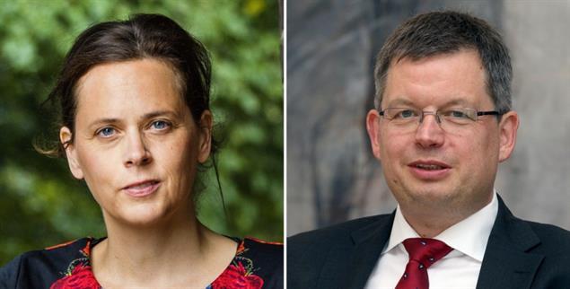 Unklar, wie es weitergeht: Katharina Kracht vom Betroffenenbeirat und Bischof Christoph Meyns, Beauftragter zum Thema Missbrauch für die EKD (Fotos: Tristan Vankann/fotoetage; epd/Hübner)