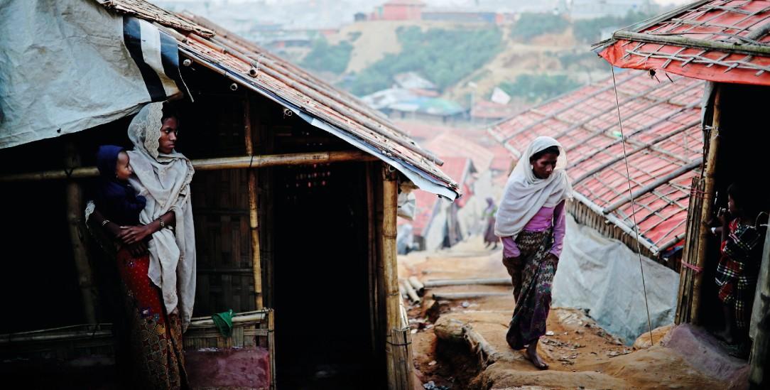 Rohingya-Frauen im Flüchtlingslager Balukhali in Cox's Bazar