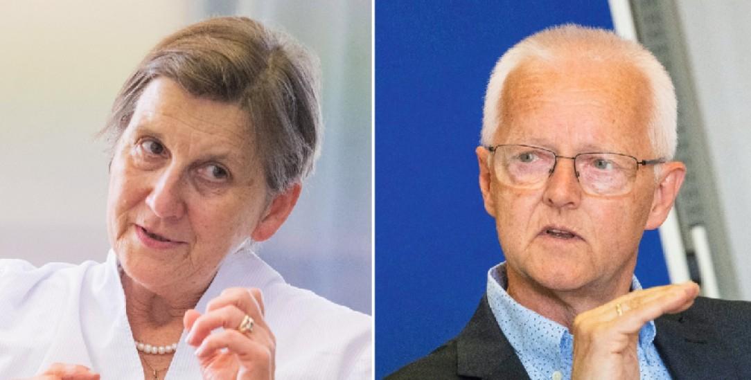 Diskutierten über die (Un)Möglichkeit von Reformen in der katholischen Kirche: Cludia Lücking-Michel und Norbert Lüdecke (Fotos: Meike Böschemeyer)
