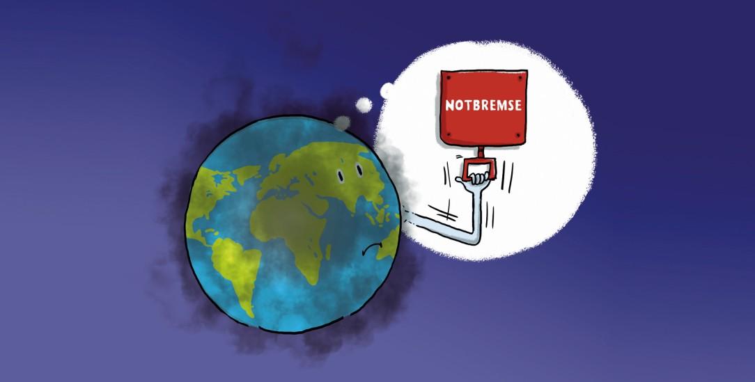Die Klimarettung ist eine globale Herausforderung (Zeichnung: PA/Die Kleinert/Leopold Maurer)