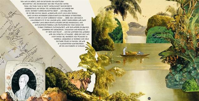 Abenteuerlich: Eine Graphic Novel schildert das Leben des Alexander von Humboldt (Abbildung aus: Andrea Wulf: »Die Abenteuer des Alexander von Humboldt«. Illustriert von Lillian Melcher)