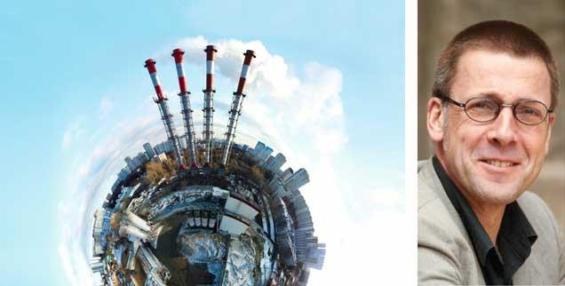 """""""Seit vorindustrieller Zeit ist unser materieller Output kolossal gewachsen. Woher stammt die märchenhafte Differenz zwischen physischer menschlicher Arberit und physischem Wohlstand?"""", fragt der Ökonom Niko Paech (rechts). (Fotos: fotolia/Alexander; privat)"""