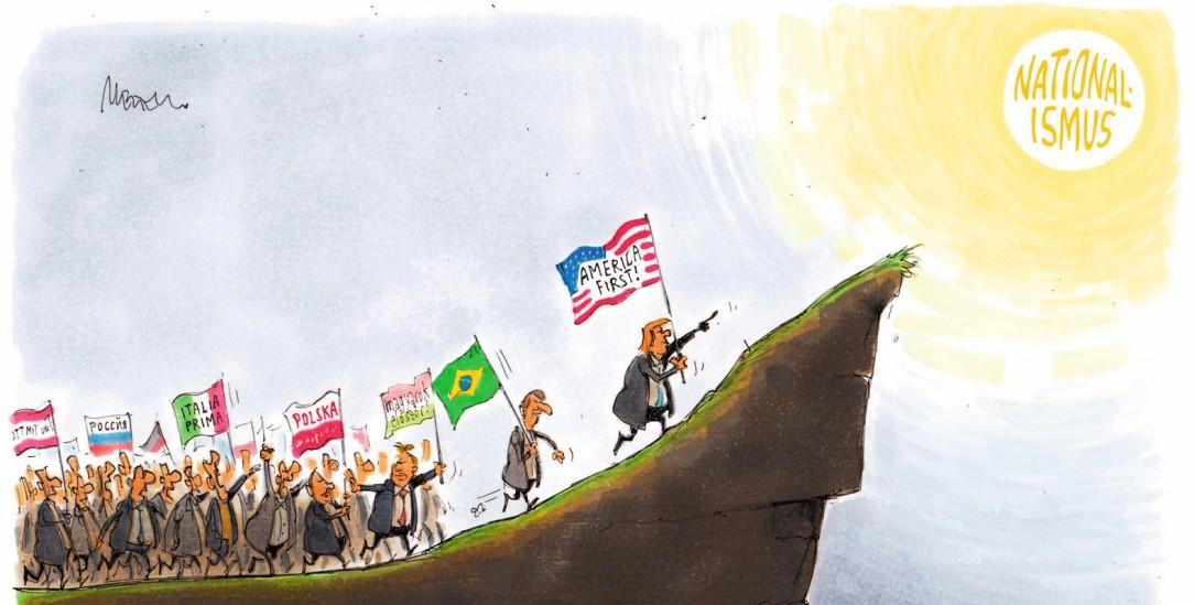 Populisten auf dem Vormarsch (Zeichnung: Mester)