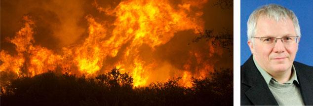In Kalifornien (Foto) und an vielen anderen Orten in der Welt wüteten 2018 verheerende Waldbrände. Es braucht die Initiative von Bürgern, damit die Politik Ernst macht mit dem Klimaschutz, meint der Energieberater Jürgen Eiselt, Mitglied der Klimaschutzinitiative des frühreren US-Präsidenten Al Gore (Foto: pa/AP/Rich Pedroncelli;privat)