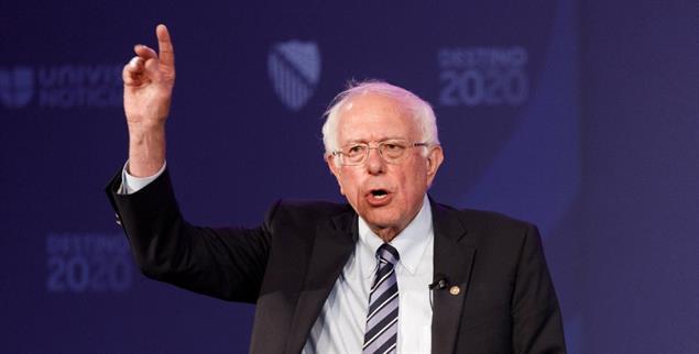 Sanders im Wahlkampf: Bei vielen Bürgern ist er beliebt, nicht jedoch in der Parteiführung der Demokraten (Foto: Sara Stathas / Alamy Stock Photo)