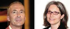 "Weg mit dem Ehegattensplitting? Thomas Gesterkamp (links) sagt : ""Ja!"" Andrea Teupke (rechts) sagt: ""Nein!"" (Fotos: pa/Schindler; privat)"