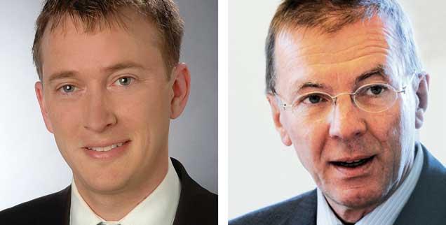 """Suizidbeihilfe durch Ärzte erlauben? Michael Frieß (links) sagt: """"Ja!"""" Eberhard Schockenhoff (rechts) sagt: """"Nein!"""" (Fotos: privat; pa/Deck)"""