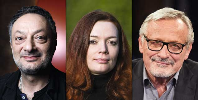 Feridun Zaimoglu, Zoë Beck, Konstantin Wecker: Glückwünsche für Karl Marx? (Fotos: pa/Christoph Hardt; pa/Anke Fleig; pa/Georg Wendt)