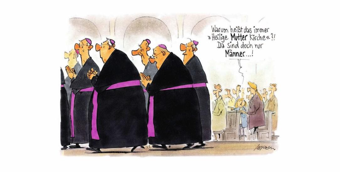 Die Frauen und der Vatikan (Zeichnung: Mester)
