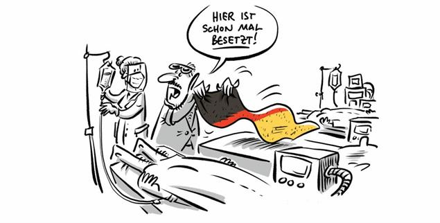 (Zeichnung: PA/Die Kleinert/Schwarwel)