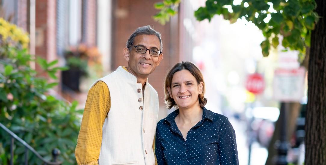 Nobelpreisträger: das Ehepaar Abhijit Banerjee und Esther Duflo (Foto: pa/Vickmark)