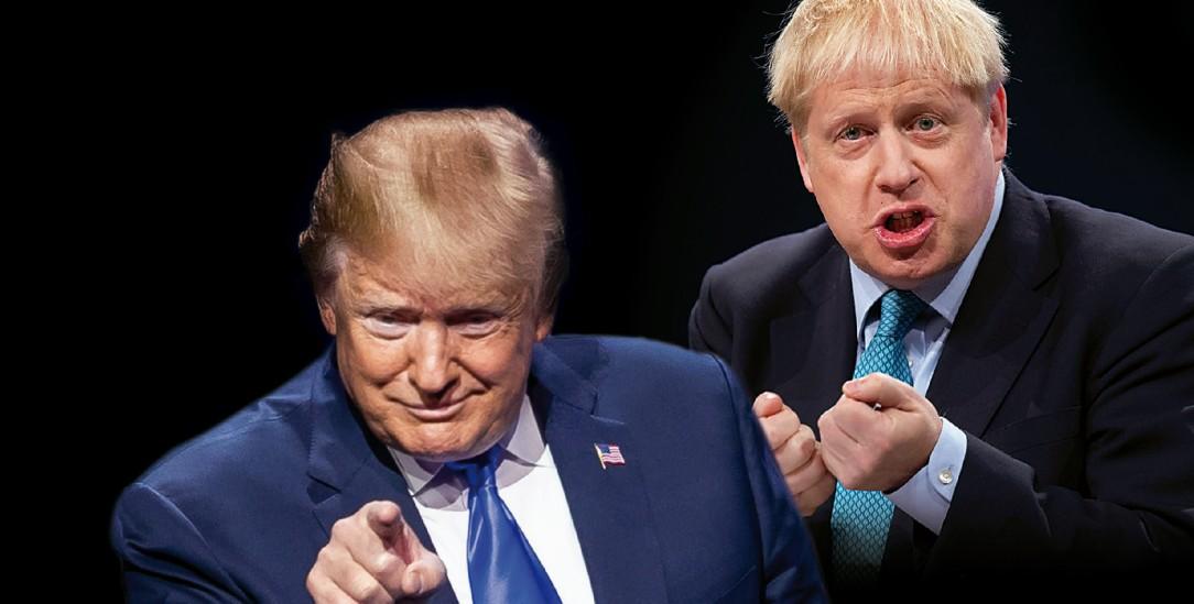 Die Lüge wird zum Argument: Donald Trump und Boris Johnson (Fotos: alamy/Hart; pa/Kabik)
