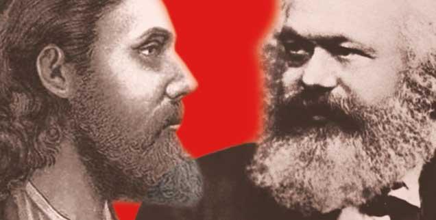 Jesus und Marx: Was verbindet sie, was unterscheidet sie? Darüber diskutieren Norbert Blüm, Franz Segbers und Ingrid Miethe. (Fotos: akg; pa)