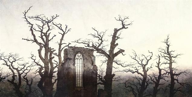 Ruinen können faszinieren: Caspar David Friedrichs »Abtei im Eichenwald«, (Foto: pa/akg-images)