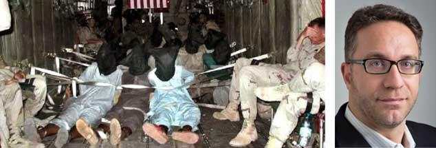 Qualvoller Transport von mutmaßlichen Mitgliedern der Terror-Organisation El Kaida und Taliban von Afghanistan nach Guantanamo: Die Menschenrechtsorganisation American Civil Liberties Union, für die Jamil Dakwar (rechtes Bild) als Jurist arbeitet, will, dass Folterer Verantwortung übernehmen für ihre Taten und diese juristisch aufgearbeitet werden (Fotos: privat; pa/afp)