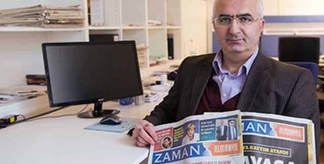 Süleyman Bag, Chefredakteur der deutschen Ausgabe der Gülen-nahen Zeitung »Zaman«, produziert künftig nur noch eine Internetausgabe. Nach der Hetzkampagne der türkischen Regierung gegen die Gülen-Bewegung brechen Abonnenten und Anzeigenkunden weg  (Foto: pa/von Jutrczenka)